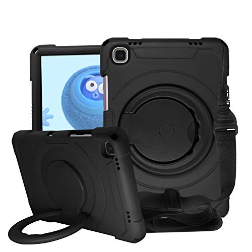FANSONG Case for Samsung A7 2020 10.4 with Neck Strap Screen Protector Cover for Kids Full Body Protective Lightweight with Rotating Handle Shoulder Strap Stand Children Galaxy Tablet 10 4 Inch 2020