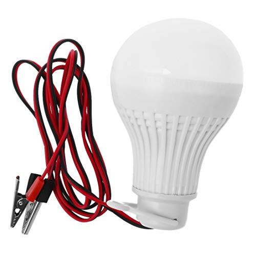 Fltaheroo E27 7W LED bombilla emergencia camping caza lámparas al aire libre luz 12V