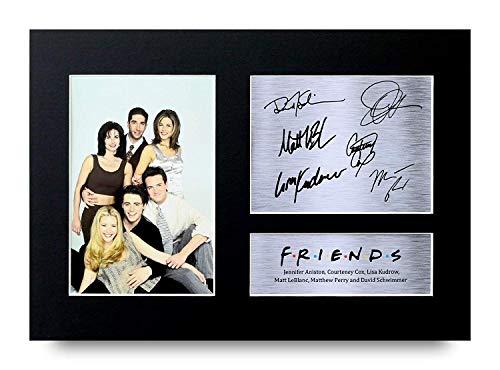 HWC Trading Friends A4 Unframed Signé Image Autographe Imprimé Impression Photo Cadeau D'Affichage pour Joey Chandler Ross Phoebe Rachel Monica TV Show Ventilateurs