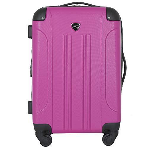 Travelers Club Chicago Hardside Expandable Spinner Luggage, Fucshia, Carry-On 20-Inch