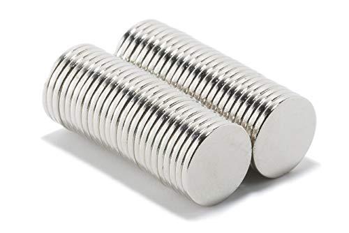 Magnastico Neodym Magnete für Magnettafel 10 x 1 mm 50 Stück Silber Magneten Rund Supermagnet stark Scheibenmagnete für Pinnwand & Kühlschrank Magnet N35 Flach
