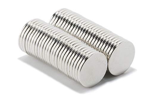 Magnastico Neodym Magnete 10x1 mm 50er Set mini Magneten Rund Supermagnet stark Scheibenmagnet für Pinnwand,Magnettafel