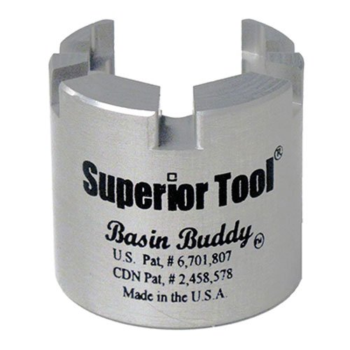 Superior Tool 03825 Basin Buddy Faucet Nut Wrench-Wrench to grab metal, pvc, plastic, and coupling nuts