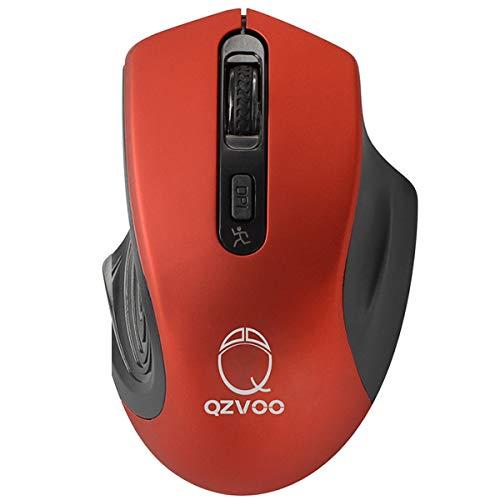 QZVOO Kabellose Maus Kabellos Funkmaus Wireless Mouse PC Maus Computermaus (Red)