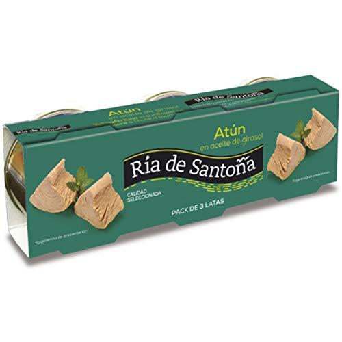 Ria de Santoña – Geelvintonijn in Zonnebloemolie – Geselecteerde Kwaliteit – Spaans Product – 3 Blikken van 85 Ml- 3