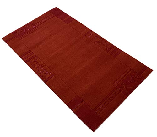 Indo Nepal Handgeknüpft Teppich Rot 100% Wolle Hochwertiger Orientteppich