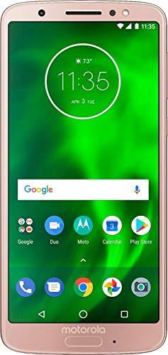 Motorola - Moto G6 Smartphone, 32GB Memory, Unlocked w/o SIM Card - Oyster Blush (Renewed)