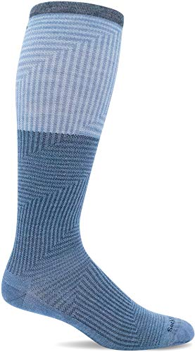 Sockwell Women's Step Up Moderate Graduated Compression Sock, Bluestone - S/M