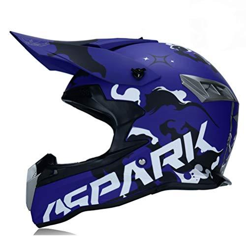 Desconocido Adult BIKE BICYCLE Motocross Off Road Helmet ATV Dirt Bike Downhill MTB DH Racing Relmet Cross Helmet Capacetes