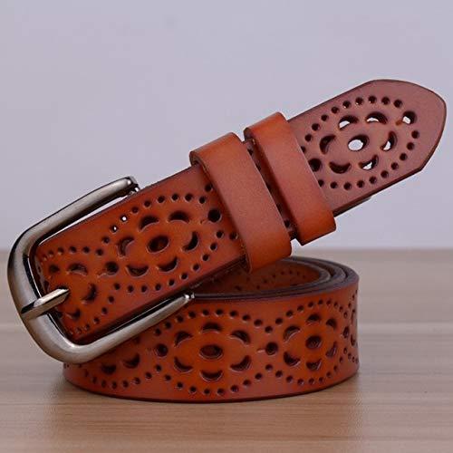LOCOTECH - Cinturón para mujer, color marrón, 105 cm