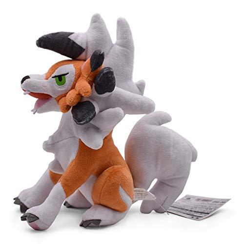 hokkk 24 cm Spielzeug Sittting Lycanroc Dämmerungsform Rock Peluche Plüsch Puppe