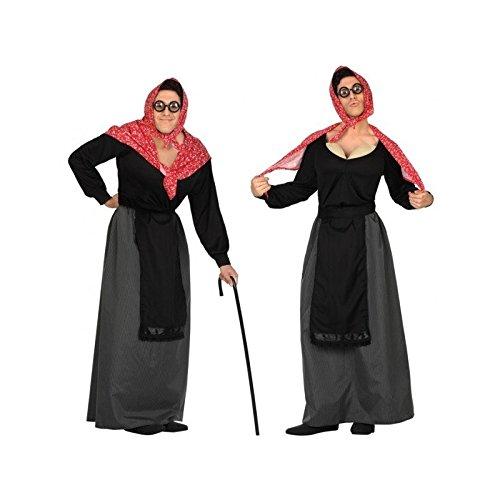 Atosa 26904 - Anciana hombres traje, tamao 50/52, negro/rojo
