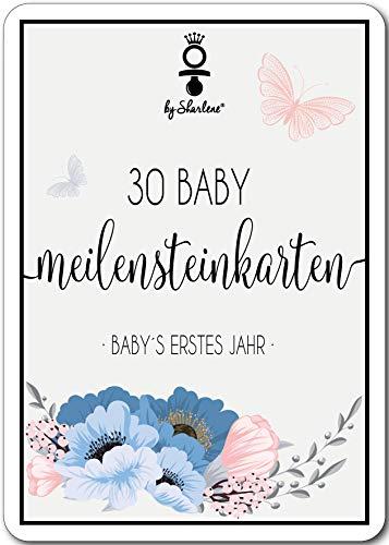 Meilensteinkarten Baby - Die schönsten Momente des 1 Lebensjahres in 30 wunderschönen Meilenstein Karten für frisch gebackene Mütter