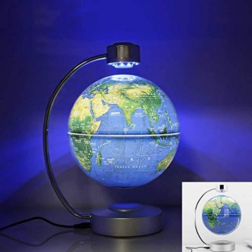 LIIYANN Globe Flottant lévitant magnétique de 8 Pouces avec lumières LED, décoration de la Maison HND-022 pour l'apprentissage de l'enseignement enseignement Bureau de démonstration de Bureau