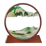 CKAN Moving Sand Art Pictures 3D Escritorio Paisaje Natural Que Fluye Imagen Arena con Base Marco