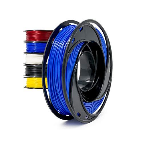 Gizmo Dorks Flexible TPU 3D Printer Filament 1.75mm 200g, Blue