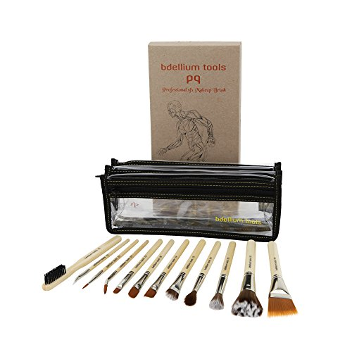 Bdellium Tools Professional Makeup Brush Special Effects SFX Series - 12 pc. Brush Set with Double Pouch (1st Collection)
