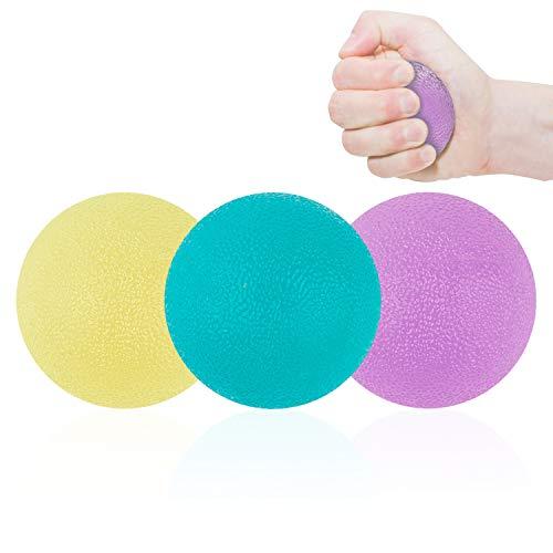 NATEE 3 PCS Palla Antistress per la Mano Pallina Antistress Mano Terapia Dito e Grip Hand Rinforzare Exerciser