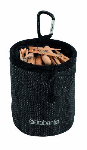 Brabantia 420184 - Bolsa para Pinzas, Color Negro