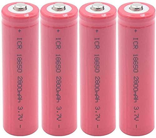 4 Piezas 3.7V 18650 2800 Mah Baterías De Litio Recargables para Linterna Faro Batería Externa Micrófono Radio Cámara
