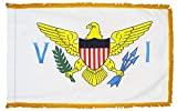 U.S. Virgin Islands Flag with Gold Fringe; Perfect for Presentations, Parades, and Indoor Display; an Elegant Ceremonial Flag; 100% Made in The USA (4 x6 )