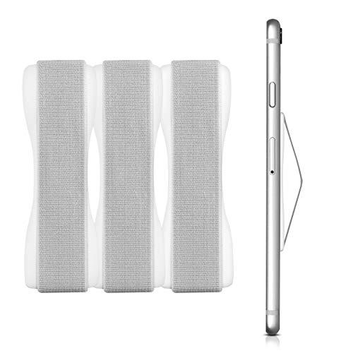kwmobile Smartphone Fingerhalter 3er Set - Handy Halter Handgriff Halterung Einhandbedienung - 3X Handyhalter in Weiß