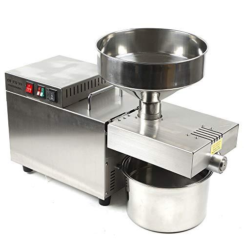 Máquina de prensado de aceite automática comercial de 220 V 1500 W 5L, máquina de prensado físico industrial de tipo pesado, extractor de expulsor comercial de semillas de nueces 7.5-12.5KG /