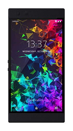 Razer Phone 2 Unlocked Gaming Smartphone - 120Hz QHD Display - Snapdragon 845 - Wireless Charging - Chroma - 8GB RAM - 64GB - Mirror Black Finish (Renewed)