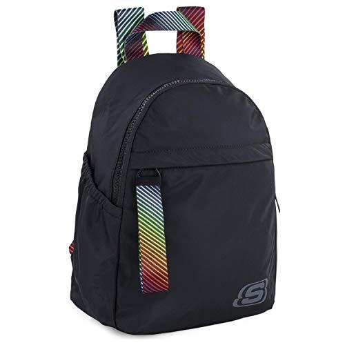 SKECHERS - Lässiger Rucksack. Unisex. Innentasche für Ipad/Tablett. Ideal für den täglichen Gebrauch. Praktisch, komfortabel und vielseitig S895, Color Schwarz