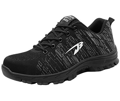 Zapatos de Seguridad para Hombre Transpirable Ligeras con Puntera de Acero Zapatillas de Seguridad Trabajo, Calzado de Industrial y Deportiva 35