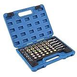 JOMAFA herramientas de reparación de roscas para cárter de Aceite 114 Piezas, reparadores para desagüe de Caja de Cambios tapones de carter M13 M15 M17 M20 M22