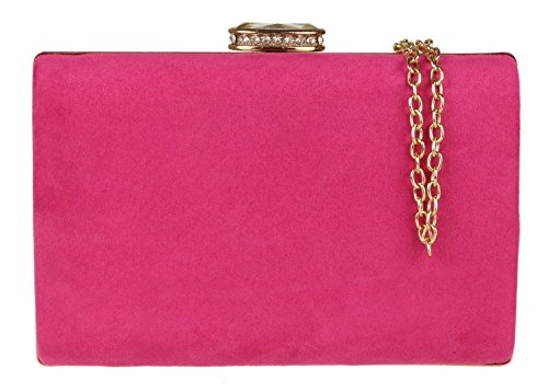 Girly Handbags - Bolso de mano de ante elegante