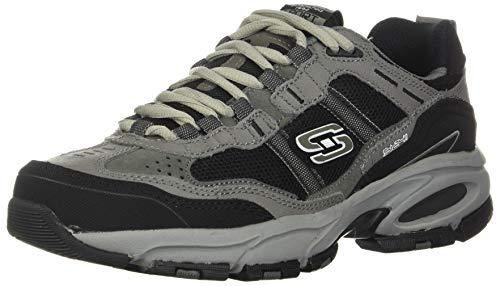 SKECHERS Men's Vigor 2.0 Trait Charcoal/Black 14 E - Wide