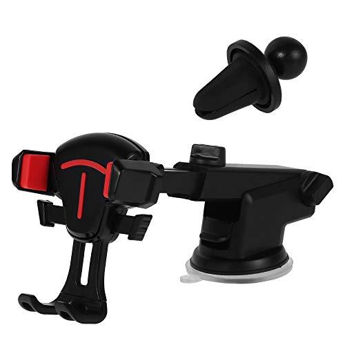 Beenle-Icey Soporte universal de gravedad de 360° para parabrisas de coche, soporte para teléfono celular, GPS, Samsung Galaxy S9/S9 Plus/S8/S8+/Note 8, iPhone X/8/8 Plus/7/7 Plus (rojo)