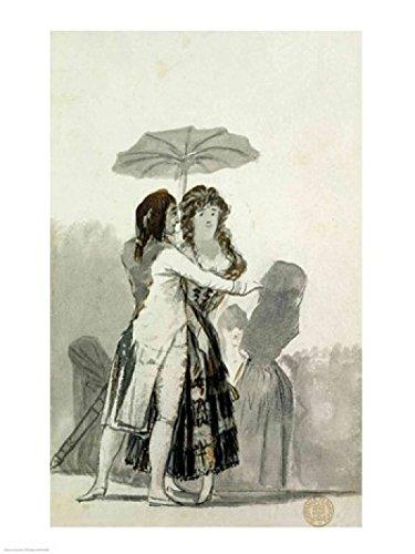 The Poster Corp Francisco De Goya – Paar mit Sonnenschirm Kunstdruck (45,72 x 60,96 cm)