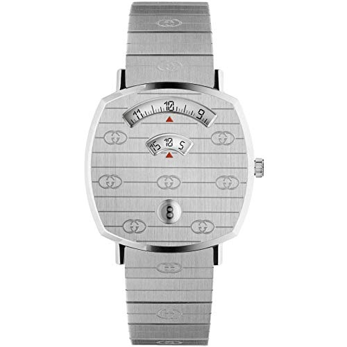 Gucci Orologio Grip 38mm Stainless Steel GG Engraved YA157401