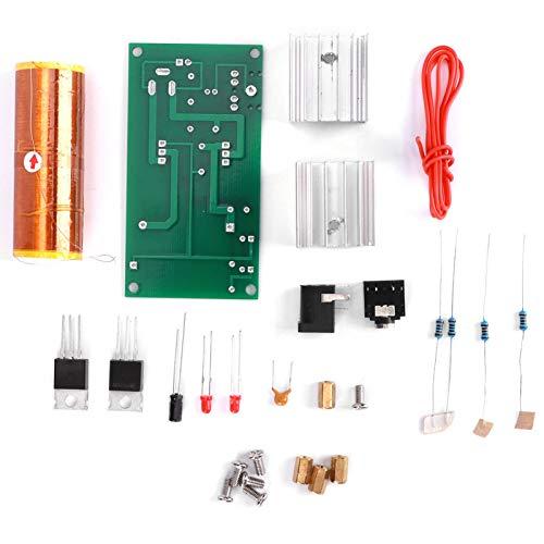 Okuyonic Kit de transmisión de Arco de Altavoz de Plasma de 15-24 V CC de Alta presión Kit de Mini Bobina electrónica para transmisión de energía inalámbrica para Tubos estroboscópicos