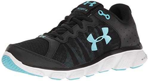 Under Armour Women's Micro G Assert 6 Running Shoe, Apollo (104)/Overcast Gray, 10