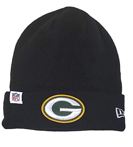 New Era Green Bay Packers Beanie NFL Essential Logo Knit Black - One-Size
