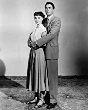 Gregory Peck and Audrey Hepburn in Roman Holiday full length pose together 11x14 HD Aluminum Wall Art