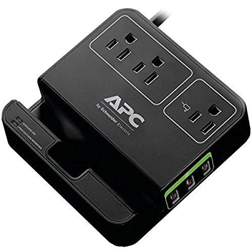 APC P3U3B 3-Outlet SurgeArrest Surge Protector with 3 USB Ports (Black)