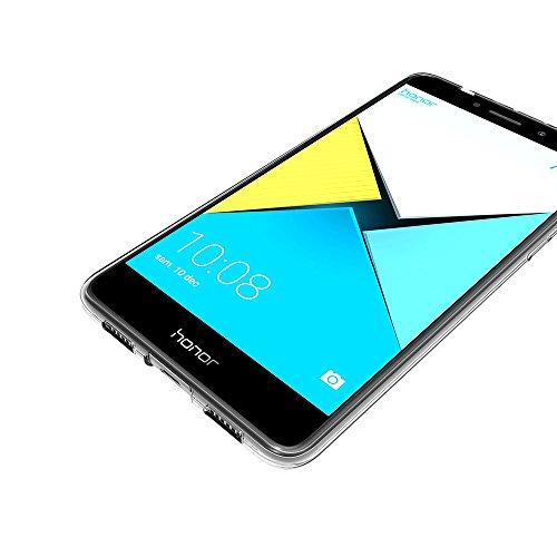 AICEK Honor 6X Hülle Case, Ultra-Clear Huawei Honor 6X Case Silikon Soft TPU Crystal Clear Premium Durchsichtig Handyhülle Schutzhülle Case Backcover Bumper Slimcase für Honor 6X (5,5 Zoll) - 6