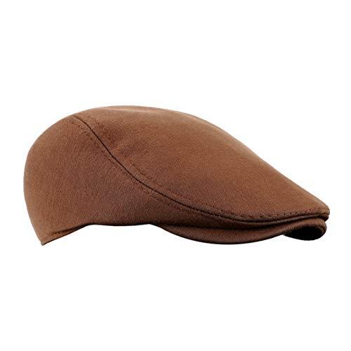 CHAMSON Men's Flat Cap Cotton Soft Fit Newsboy Cap Ivy Gatsby Driving Hat (1-Black)