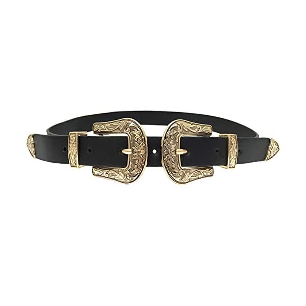 Western Vintage Style Genuine Leather Belt 1