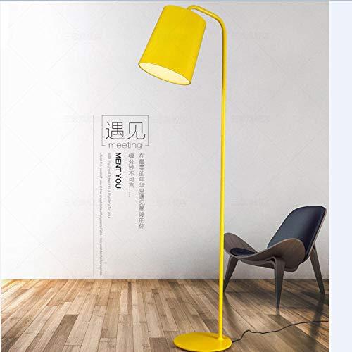 Postmoderne gelbe Stehlampe Wohnzimmer Sofa Schlafzimmer Nachttischlampe Dekoration LED Nordic Stehlampe-Tischlampe + 5WLED warmes Licht_Gelb