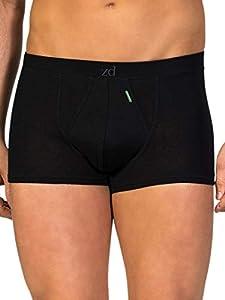 Bóxers de Hombre-Modelo Shorty- ZD de Algodón Egipcio - Color Negro (Talla 56 - XL)