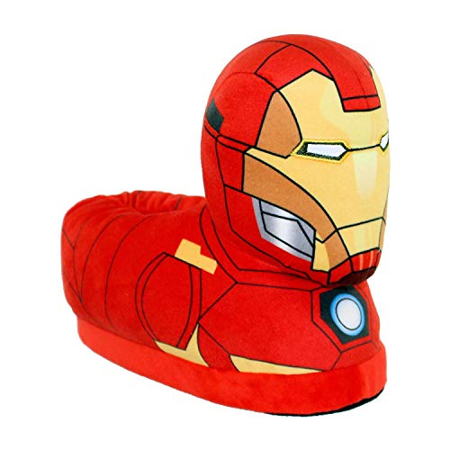 7702-3 - Marvel Classic Avengers - Iron Man Slippers - Medium/Large - Happy Feet Mens and Womens Slippers