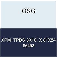 OSG テーパエンドミル XPM-TPDS_3X10゚_X_81X24 商品番号 86493