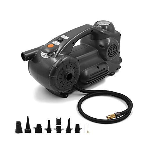 Compresor de aire portátil Inflador de neumáticos DC 12V 120PSI Bomba eléctrica con indicador de presión analógico Luz LED para neumáticos de coche Motocicleta Bicicleta Baloncesto