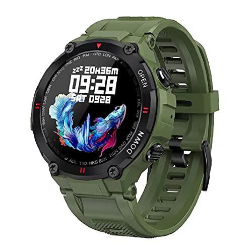 Smart Watch Sleep Tracking Digital Watch.Smart Uhr Wasserdichte Sportuhr mit Herzfrequenz Fitness Tracker Bluetooth Call Full Touch Screen für Android ios grün